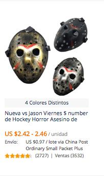 comprar mascara para halloween en aliexpress