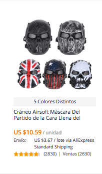comprar mascara halloween en aliexpress