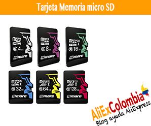 Comprar tarjeta memoria micro SD en AliExpress