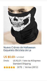 comprar mascara para halloween en aliexprss
