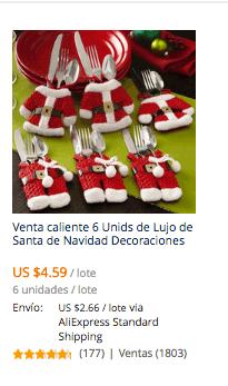 comprar cubre cubiertos navidad en aliexpress