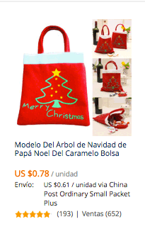 comprar bolso navideño en aliexpress colombia