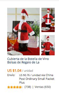 comprar cubre botella navidad en aliexpress