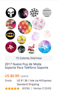 comprar popsocket en aliexpress