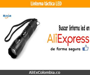 Comprar linterna led táctica en AliExpress