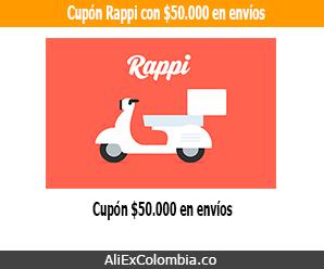 ¡Código descuento hasta $100.000 en Rappi Colombia!